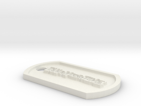 Persona 5 'Take Your Time' Themed Dog Tag in White Natural Versatile Plastic