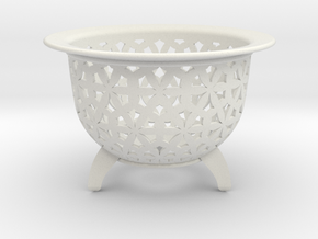 Neo Pot Stars 4 in in White Natural Versatile Plastic