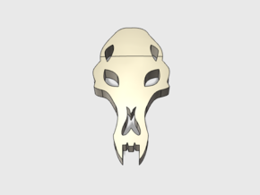 60x Wolf Skull : Shoulder Insignia pack in Smooth Fine Detail Plastic