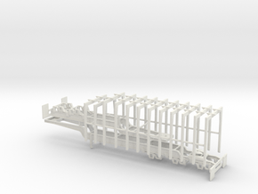 1/64th Super B Log trailer with multiple bunks in White Natural Versatile Plastic