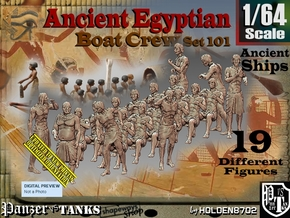 1/64 Ancient Egyptian Boat Crew Set101 in Smooth Fine Detail Plastic