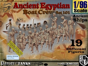 1/96 Ancient Egyptian Boat Crew Set101 in Smooth Fine Detail Plastic