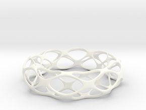Partition Plane Bangle in White Processed Versatile Plastic: Small