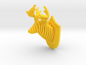 Deer head in Yellow Processed Versatile Plastic
