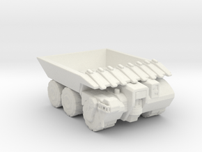 Hell Truck V2 285 scale in White Natural Versatile Plastic