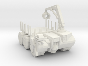 Hell truck Flatbed 285 scale in White Natural Versatile Plastic