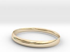 Curved surface bangle in 14k Gold Plated Brass