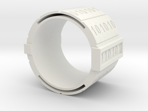 binary-ring-9US in White Natural Versatile Plastic