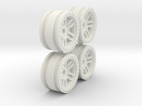 Orlandoo RC Wheels - V1 2mm offset in White Natural Versatile Plastic
