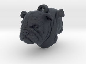 Bulldog Back-To-Back Earring in Black Professional Plastic