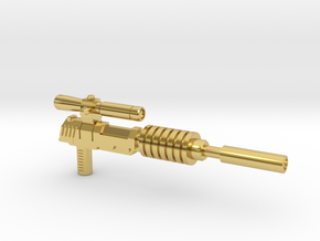 Megatron Pistol, Silenced (3mm & 5mm grips) in Polished Brass: Small