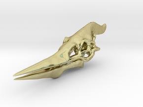 Pteranodon Skull in 18k Gold Plated Brass