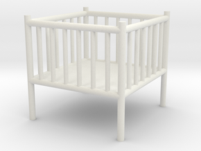 Baby Playpen 1:50 in White Natural Versatile Plastic: 1:50