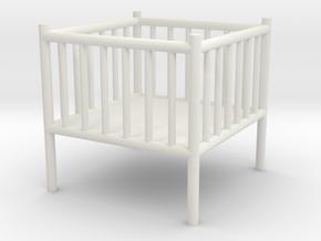 Baby Playpen 1:50 in White Natural Versatile Plastic: 1:50