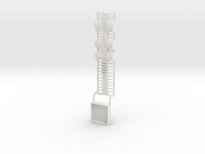 000439 Tieflader für Bau und Forstmaschinen HO 1:8 in White Natural Versatile Plastic