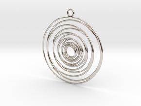 Whirlpool earrings in Platinum