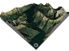 Milford Sound Map, New Zealand in Glossy Full Color Sandstone