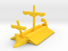 1/1200 Classical Egyptian Trireme Game Pieces in Yellow Processed Versatile Plastic: Extra Small