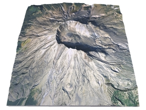 "Mount St. Helens Map: 6"" in Full Color Sandstone"