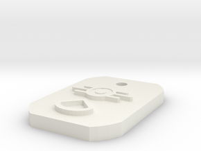 Private 1st Class Dogtag in White Natural Versatile Plastic