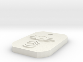 Sergeant First Class Dogtag in White Natural Versatile Plastic