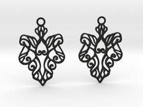 Alarice earrings in Black Natural Versatile Plastic: Small