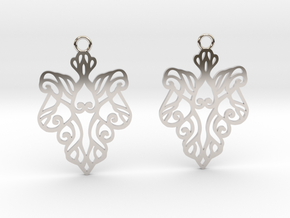 Alarice earrings in Rhodium Plated Brass: Small