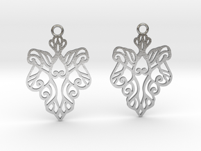 Alarice earrings in Natural Silver: Small