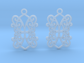 Ealda earrings in Smooth Fine Detail Plastic: Small