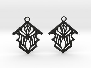 Earleen earrings in Black Natural Versatile Plastic: Small