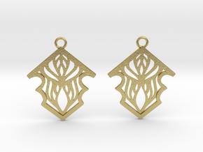 Earleen earrings in Natural Brass: Small