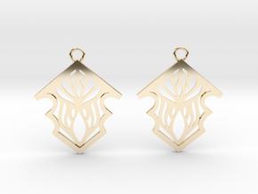 Earleen earrings in 14k Gold Plated Brass: Small