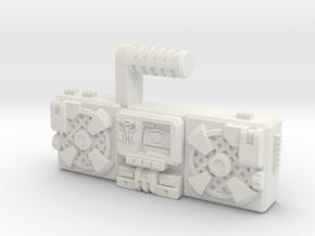 Titans Return Blaster, TF Compatible (3mm, 5mm) in White Natural Versatile Plastic: Medium