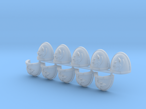 Space Vikings RT Mk7/8 shoulder pads L in Smooth Fine Detail Plastic