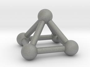 0721 J01 Square Pyramid V&E (a=1cm) #3 in Gray PA12