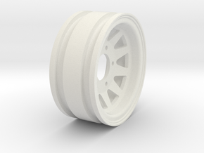 "1.55"" Steel OEM 5 Lug Wheel in White Natural Versatile Plastic"