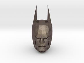 Batman Head in Polished Bronzed-Silver Steel