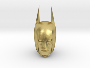 Batman Head in Natural Brass