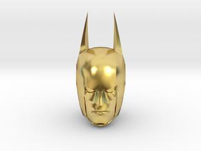 Batman Head in Polished Brass (Interlocking Parts)