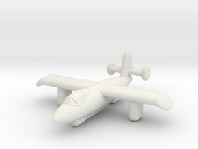 4302 Rocket Interceptor in White Premium Versatile Plastic