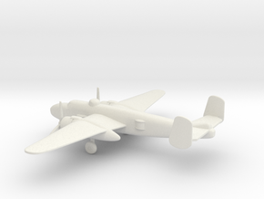 North American B-25J Mitchell in White Natural Versatile Plastic: 1:220 - Z