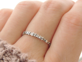 Rattle The Stars Ring (Multiple Sizes) in Polished Silver: 6 / 51.5