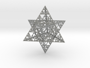 Sierpinski Merkaba L5 Hollow (downloadable) in Gray Professional Plastic