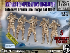 1/35 Antarctic Troops Set101-01 in Smooth Fine Detail Plastic