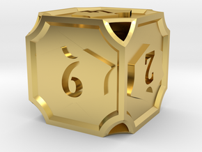 Planeswalker Loyalty D6 (Version 2) in Polished Brass
