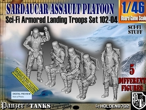 1/46 Sci-Fi Sardaucar Platoon Set 101-04 in Smooth Fine Detail Plastic
