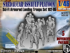 1/46 Sci-Fi Sardaucar Platoon Set 102-05 in Smooth Fine Detail Plastic