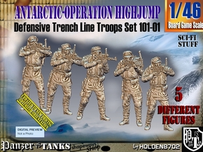 1/46 Antarctic Troops Set101-01 in Smooth Fine Detail Plastic