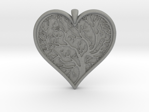 Tree of life Heart pendant in Gray PA12