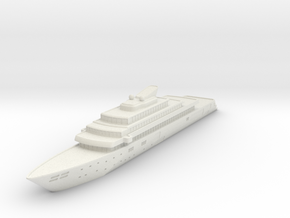Miniature Rising Sun Yacht - 10cm in White Natural Versatile Plastic
